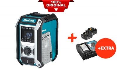 Акумуляторний радіоприймач Makita DMR114+2 акк.18V 5 Ah+швидкозарядний ЗУ (DMR114RT2)