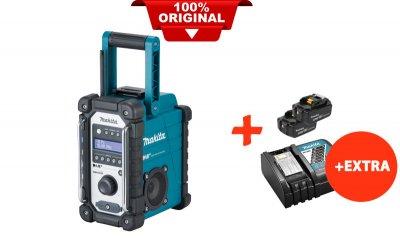 Акумуляторний радіоприймач Makita DMR110+2 акк.18V 5 Ah+швидкозарядний ЗУ (DMR110RT2)