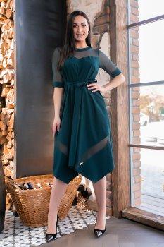 Плаття MANOVI 297 Темно-зелене