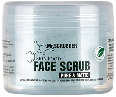 Скраб для лица Mr.Scrubber Skin Food Pure and Matte 170 г (4820200231112)