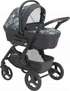 Универсальная коляска 3 в 1 CAM Dinamico Up Smart Бело-серое граффити (897T/V90/990/819K) (8005549990135)