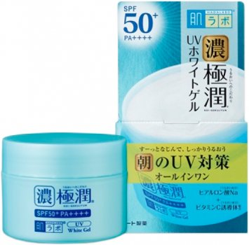 Сонцезахисний гіалуроновий гель Hada Labo Koi-Gokujyun UV White Gel SPF50+ PA++++ 90 г (4987241145676)