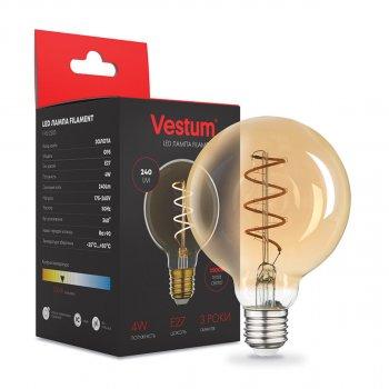"""Филаментная лампа Vestum """"вінтаж"""" golden twist G95 Е27 4Вт 220V 2500К 1-VS-2503"""