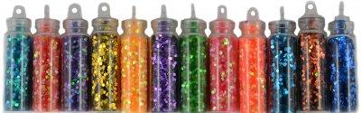 Набір блискіток для дизайну нігтів Avenir Cosmetics 12 шт. (2009610009166)
