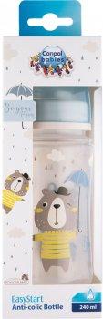 Бутылка антиколиковая Canpol Babies Bonjour Paris с широким отверстием 240 мл Синяя (35/232_blu)