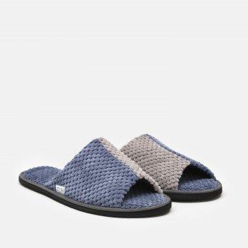 Комнатные тапочки FX shoes Дорис 18047 Сине-серые