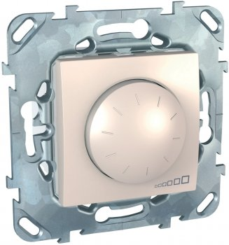 Світлорегулятор поворотно-натискний Schneider Electric 4-400 Вт Бежевий (MGU5.513.25)