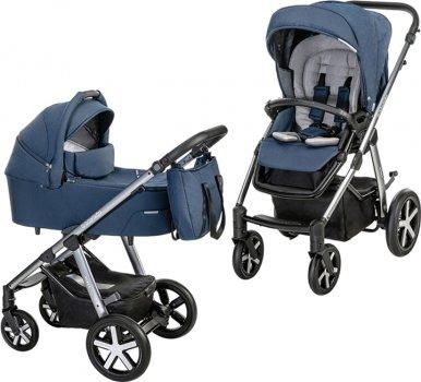 Универсальная коляска 2 в 1 Baby Design Husky NR 103 Navy (204357)