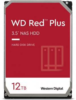 Жорсткий диск Western Digital Red Plus 12 TB 7200 rpm 256 MB WD120EFBX 3.5 SATA III