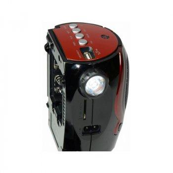Радиоприемник Golon RX-902 USB SD Черный/Красный (3719)
