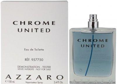 Мужская парфюмерия Туалетная вода (тестер без крышечки) Azzaro Chrome United man edt 100ml (8595562221304)