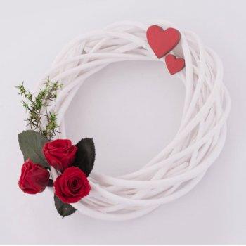Композиция Стабилизированные розы и растения Венок Lerosh