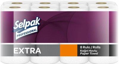 Паперовий кухонний рушник Selpak Professional Extra двошаровий 8 рулонів (32661120_8690530515048)