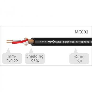 Мікрофонний кабель Roxtone DMXX200L1, XLR - XLR, 2x0.22, 1 м
