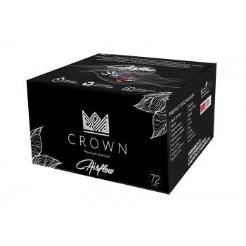 Уголь кокосовый для кальяна Crown 72 кубика 25 мм 1 кг