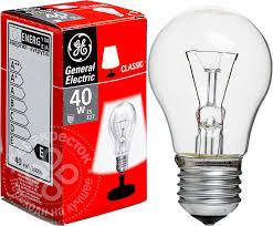 Лампа розжарювання 40А1/CL/230V E27 прозора GE Угорщина