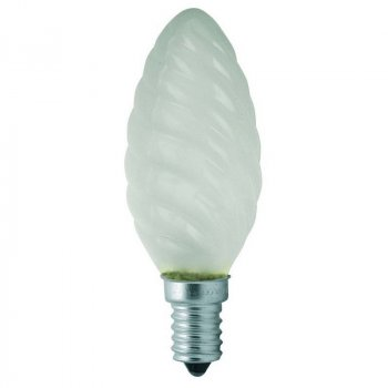 Лампа розжарювання свічка кручена (шишка) 60ТС1/F/E14 230V матова GE Угорщина