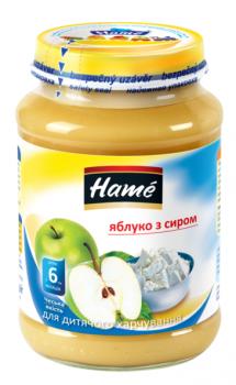 Пюре Hame яблуко з сіром 190 г (23601021760101)