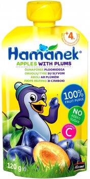 Пюре Hamanek Pouch яблуко і зливу 120 г (26520161757083)