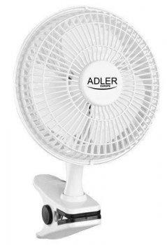 Настільний портативний вентилятор прищіпка Adler AD 7317 білий