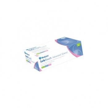 Одноразові рукавички нітрилові Медіком 100 шт в упаковці Розмір S Рожевi