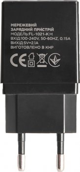 Сетевое зарядное устройство Florence 2USB 2A + microUSB Cable Black (FL-1021-KM)