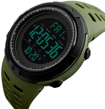 Мужские часы Skmei 1251BOXAG Army Green BOX