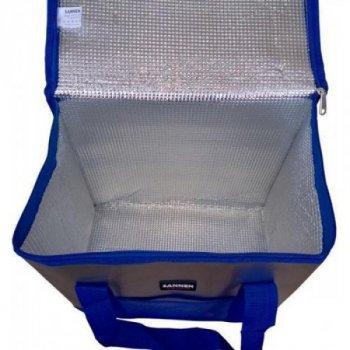Компактна похідна термосумка-холодильник Sannen Cooler Bag Classic 25 л Сірий з синім (00001224)