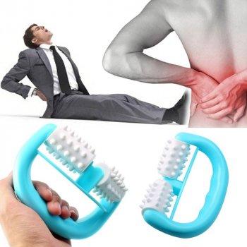 Ручний антицелюлітний масажер роликовий для тіла ніг рук шиї Clefers (600231)