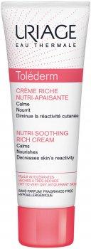 Успокаивающий крем Uriage Toléderm Rich Nutri-Soothing Питательный для сухой и чувствительной кожи 50 мл (3661434000065)