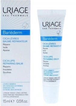 Защитный цика-бальзам для губ Uriage Bariéderm Cica-Lips Repairing Восстановление+Увлажнение 15 мл (3661434005459)