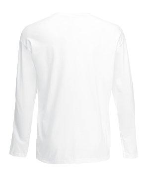 Футболка з довгим рукавом Fruit of the Loom Valueweight long sleeve Білий (061038030)