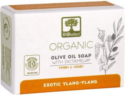 Натуральное оливковое мыло BIOselect против старения с миррой и медом 80 г (5200306433020)
