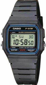 Чоловічі годинники Casio F-91W-1YEF