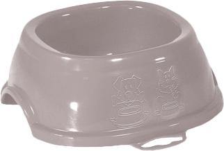Пластикова миска для собак і кішок Stefanplast Break 2 0.6 л 7 х 19 х 19 см Ніжно-рожева (8003507960664)