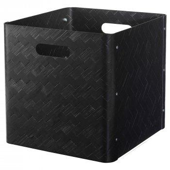 Ящик для зберігання IKEA BULLIG 32x35x33 см чорний 104.096.25