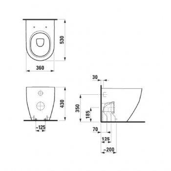 Унитаз LAUFEN Pro Rimless H8229560000001 без сидения и бачка