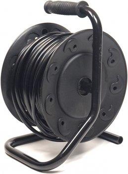 Подовжувач на котушці PowerPlant 25 м, 3x2.5мм2, 16А, 4 розетки, морозостІйкий (JY-2002/25) (PPRA16M25S4L)