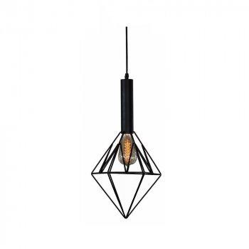 Подвесной светильник Лофт Skarlat Проволока Ромб Черный (LS 1208-1G)