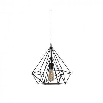 Подвесной светильник Лофт Skarlat Фигурная проволока Черный d - 225 mm (LS 1202-1G)