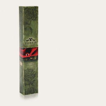 Долгосвежая жива троянда Florich в подарунковій упаковці - Вогненний бурштин 7 карат на короткому стеблі (1117-OR02)