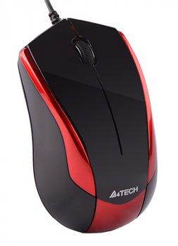 Миша A4Tech N-400-2 USB Red/Black (4711421865395)