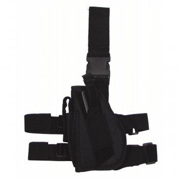 Кобура для пистолета набедренная регулируемая левосторонняя MFH чёрная (30726A)