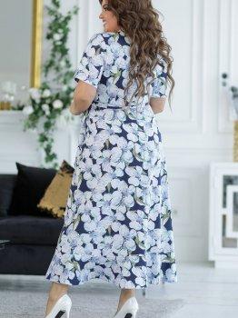 Платье New Fashion 131 Синее с белым