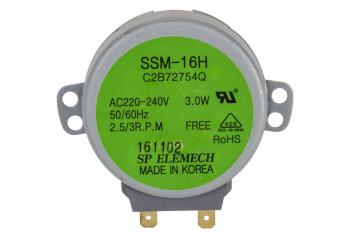 Мотор піддону для мікрохвильової печі SSM-16H LG 2B72754Q