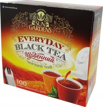 Чай черный Sun Gardens Every Day 100 экспресс пакетиков 220 г (4820082708092)