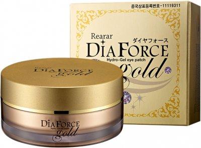 Патчі для нижніх повік Dia Force Rearar Hydro Gel Eye Patch L Gold гідрогелеві із золотом 60 шт. 90 г (8809501400027)