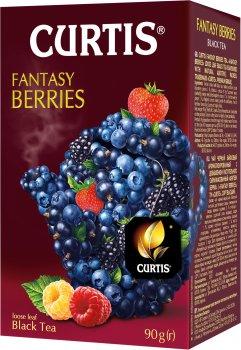 Чай черный байховый с ягодным вкусом и лепестками каркаде Curtis Fantasy Berries 90 г (4823063705325)