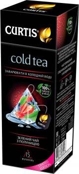 Чай холодный зеленый с клубникой Curtis Cold Tea with Strawberry 15 пирамидок (4823063708159)
