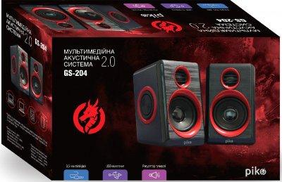 Акустическая система Piko GS-204 Black-Red (1283126489433)
